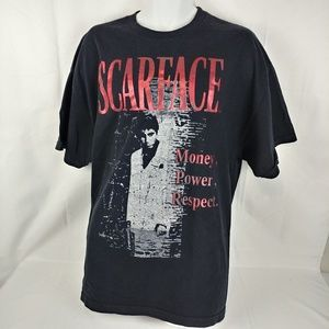 Scarface Money! Power! Respect! Graphic Shirt 2XL